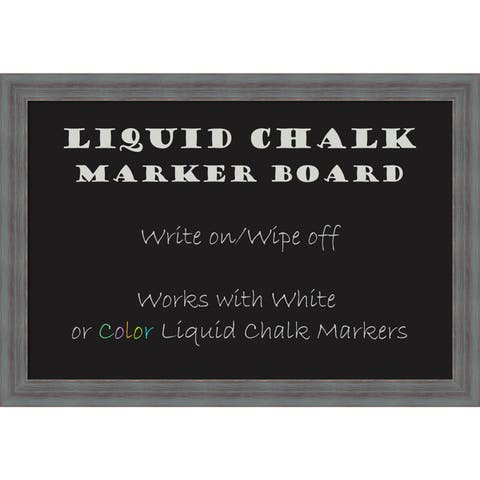 Framed Liquid Chalk Marker Board, Dixie Grey Rustic