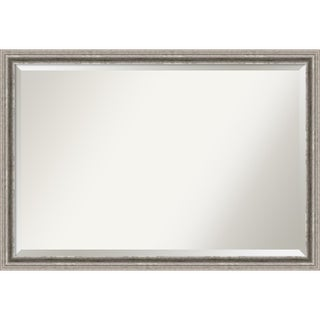 Wall Mirror Extra Large, Bel Volto Silver 39 x 27-inch - Silver/Black