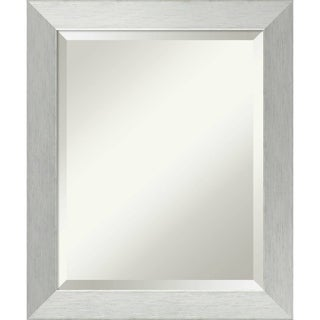 Wall Mirror Medium, Brushed Sterling Silver 20 x 24-inch