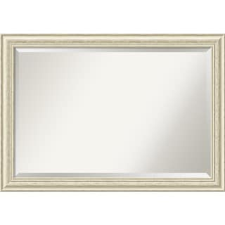 Wall Mirror Extra Large, Country White Wash 41 x 29-inch - White Washed