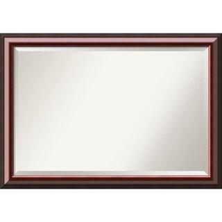 Wall Mirror Extra Large, Cambridge Mahogany 40 x 28-inch