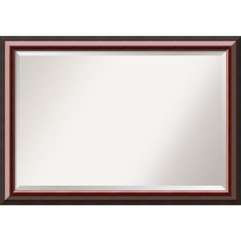 Wall Mirror Extra Large, Cambridge Mahogany 41 x 29-inch - 28.50 x 40.50 x 1.153 inches deep