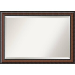 Wall Mirror Extra Large, Cyprus Walnut 41 x 29-inch