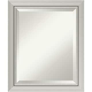 Wall Mirror, Romano Silver Wood - Silver/Black