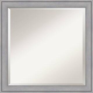 Wall Mirror, Graywash Wood - Grey