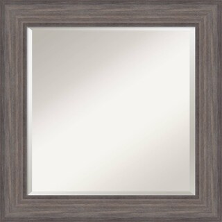 Wall Mirror, Country Barnwood Wood - Brown/Grey