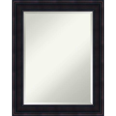 Wall Mirror, Annatto Mahogany Wood