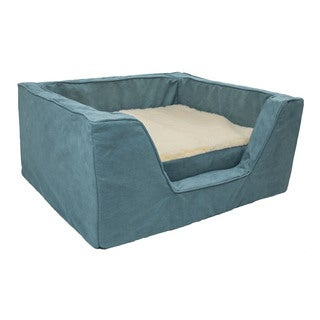 Snoozer Luxury Solid Microsuede Memory Foam Dog Bed