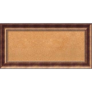 Framed Cork Board, Manhattan Bronze