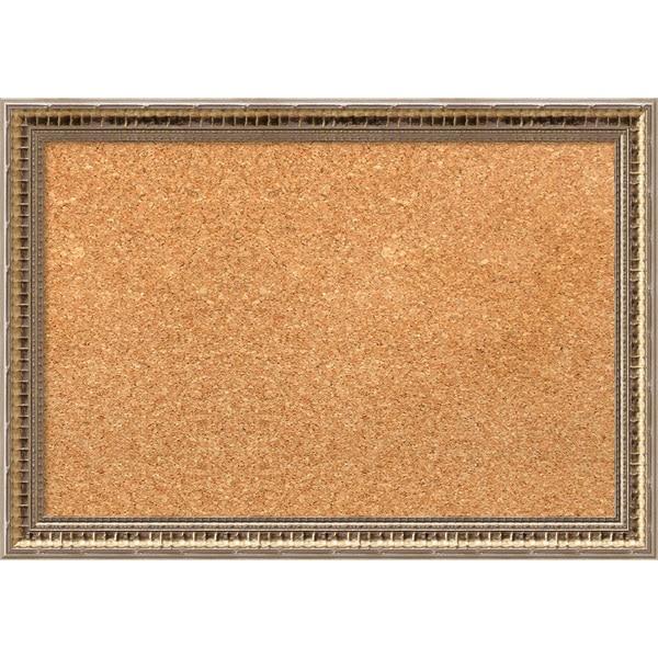 Framed Cork Board, Fluted Champagne