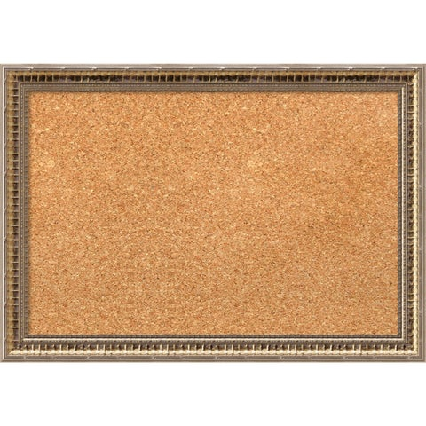 Framed Cork Board, Fluted Champagne