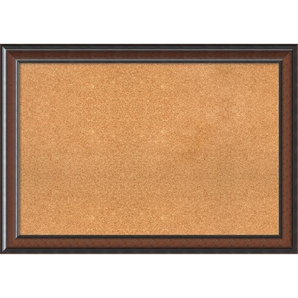 framed cork board cyprus walnut