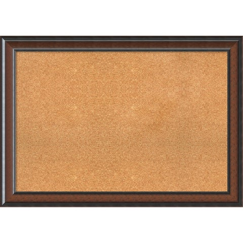 Framed Cork Board, Cyprus Walnut