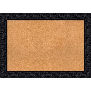 Framed Cork Board, Black Luxor