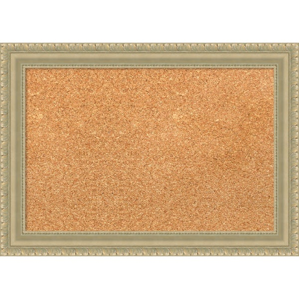 Framed Cork Board, Champagne Teardrop