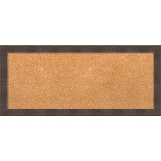 Framed Cork Board, Whiskey Brown Rustic