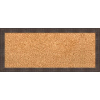 Framed Cork Board, Whiskey Brown Rustic