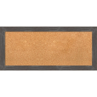 Framed Cork Board, Woodridge Rustic Grey