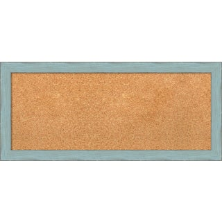 Framed Cork Board, Sky Blue Rustic (3 options available)