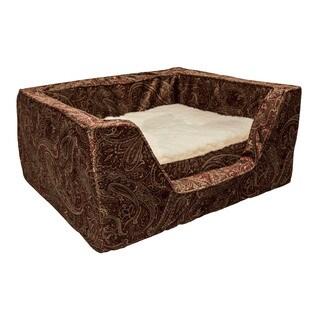 Snoozer Brown Microsuede Memory Foam Laurel Dog Bed