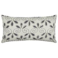 Rizzy Home Cotton 14-inch x 26-inch Floral Decorative Filled Throw Pillow