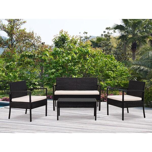Shop Dg Casa San Juan Loveseat 2 Chairs And Table Set Set Of 4