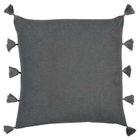 Rizzy Home Grey Cotton Decorative Throw Pillow