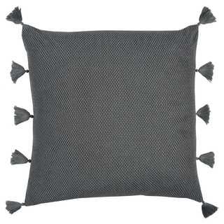 Rizzy Home Grey Cotton Decorative Throw Pillow