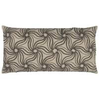 Rizzy Home Abstract Floral 11-inch x 12-inch Cotton Decorative Filled Throw Pillow