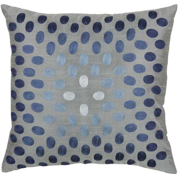 Rizzy Home Dots Circularly Placed Polyester Decorative Throw Pillow - Free Shipping On Orders ...