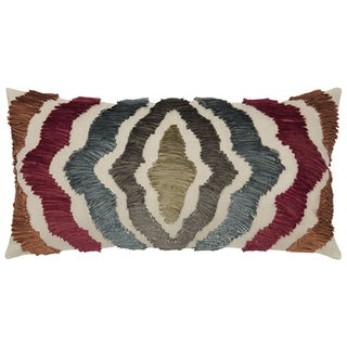 Rizzy Home Radiating Lines Cotton / Flax Decorative Throw Pillow