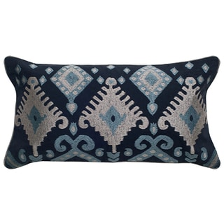 Rizzy Home Ikat with Flourishes Cotton / Polyester Decorative Throw Pillow