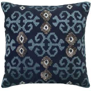 Rizzy Home Ikat with Flourishes Cotton Decorative Throw Pillow