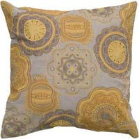 Rizzy Home Floral with Medallion Cotton / Flax Decorative Throw Pillow