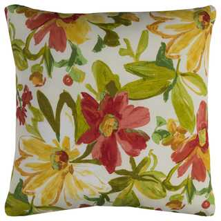 Rizzy Home Indoor Outdoor 22-inch Floral Polyester Square Decorative Throw Pillow