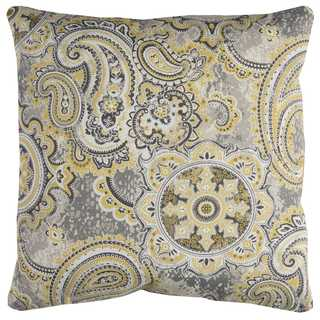 Rizzy Home Green Paisley Polyester Decorative Throw Pillow