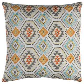 Rizzy Home 22-inch Green Geometric Polyester Decorative Throw Pillow