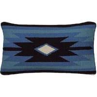 Rizzy Home Colorful Geometric Southwestern Motifs Wool / Cotton Decorative Throw Pillow