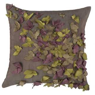 Rizzy Home Butterflies Polyester Decorative Throw Pillow