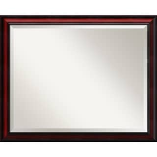Wall Mirror, Rubino Cherry Scoop Wood