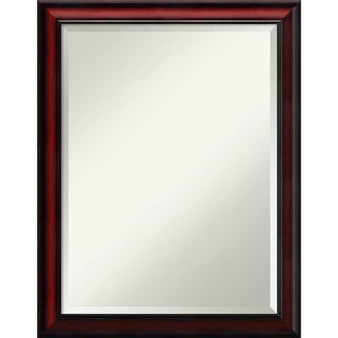 Wall Mirror, Rubino Cherry Scoop Wood