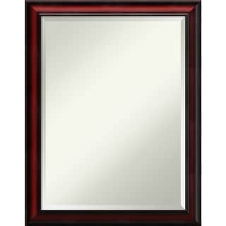 Wall Mirror, Rubino Cherry Scoop Wood - Brown/Black