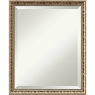 Wall Mirror, Fluted Champagne Wood