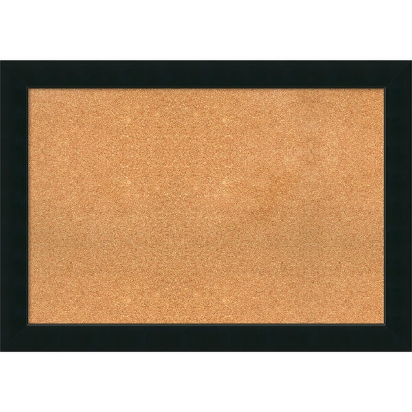 Framed Cork Board Extra Large, Corvino Black 41 x 29-inch