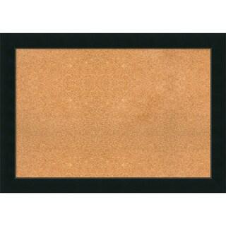 Framed Cork Board Extra Large, Corvino Black 41 x 29-inch