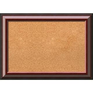 Framed Cork Board Medium, Cambridge Mahogany 28 x 20-inch