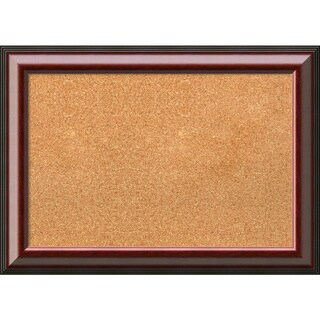 Framed Cork Board Medium, Cambridge Mahogany 28 x 20-inch
