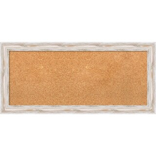 Framed Cork Board, Alexandria White Wash (3 options available)