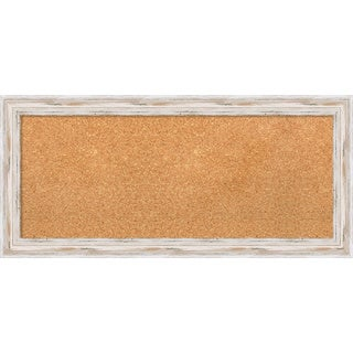 Framed Cork Board, Alexandria White Wash
