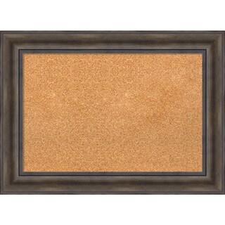 Framed Cork Board, Rustic Pine